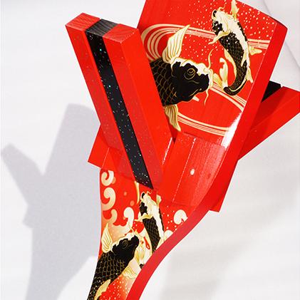 【ふるさと納税】【高知のよさこい文化】 色彩鳴子 ノース 1組 【地域のお礼の品・お祭り】