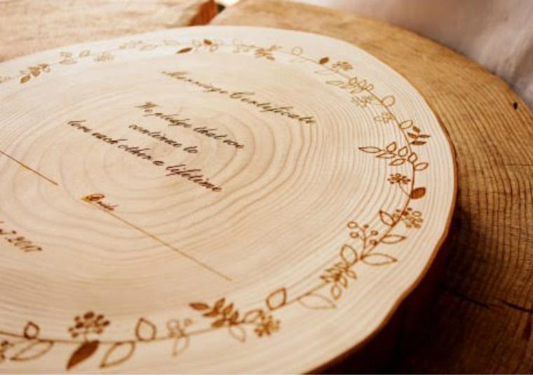 【ふるさと納税】世界に一つだけ! 木でできた結婚証明書(杉19~21cm)