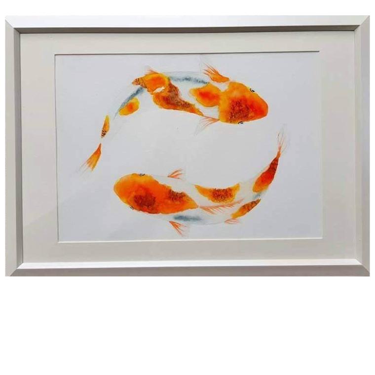 【ふるさと納税】デビーの水彩画『金魚』