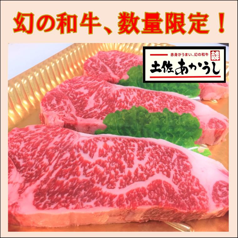 【ふるさと納税】土佐あかうしサーロインステーキ 190g×3枚