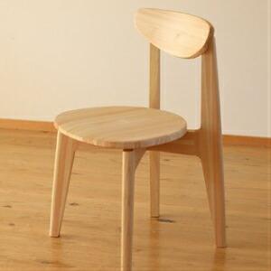 【ふるさと納税】Ots-05【まるい・軽い・かわいらしい】四万十ヒノキの椅子「EINE(エイネ)」(座面無垢板)