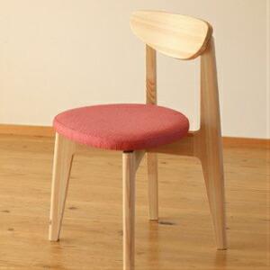 【ふるさと納税】Ots-06【まるい・軽い・かわいらしい】四万十ヒノキの椅子「EINE(エイネ)」(座面布張り※カラー選択)