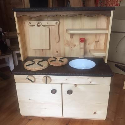 【ふるさと納税】[0401]カントリー調おままごとキッチン