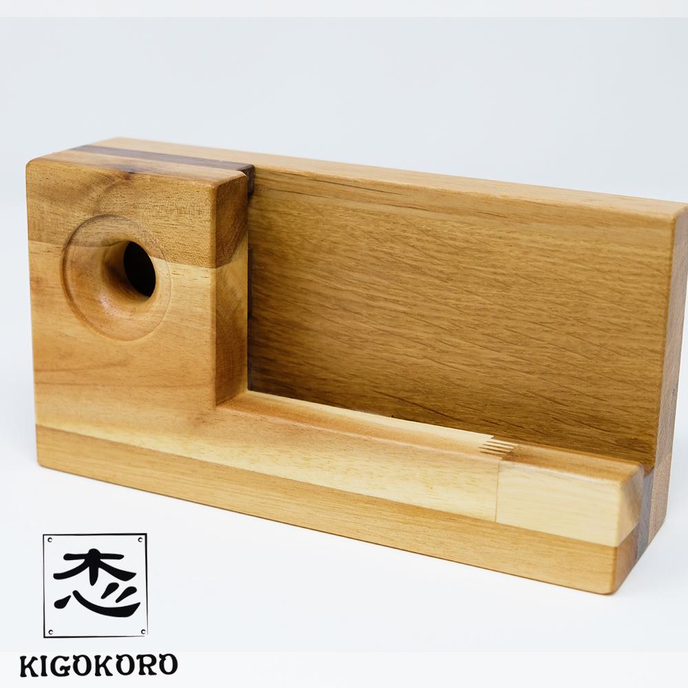 【ふるさと納税】国産木材を使用した スマートフォンスピーカー【アカシア】