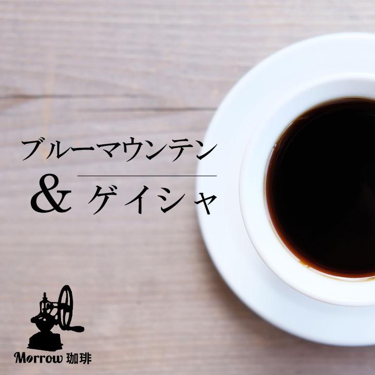 【ふるさと納税】<定期便>自家焙煎 ブルーマウンテンNo.1&ゲイシャ 12カ月(粉)【増量】