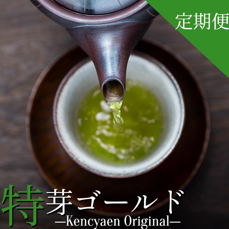【ふるさと納税】献茶園オリジナル深蒸し茶 特芽ゴールド 定期便 3ヵ月