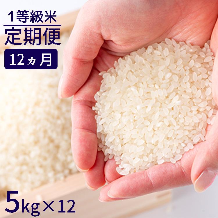 【ふるさと納税】<定期便>福岡県産米 1等級 夢つくし(白米) 60kg(5kg×12)