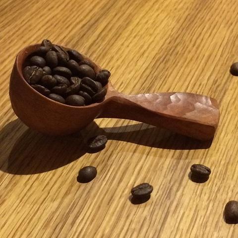 【ふるさと納税】【受注生産】KA0042_手彫りの珈琲さじ(木材:チェリー)