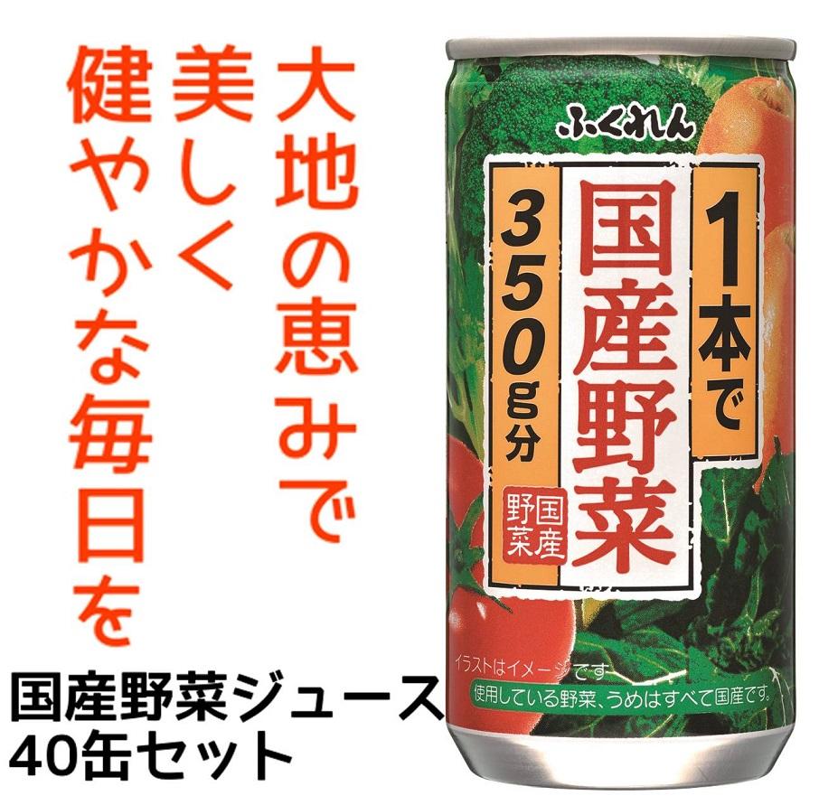 【ふるさと納税】A1036 1本で国産野菜350g分 野菜ジュース195g40缶セット