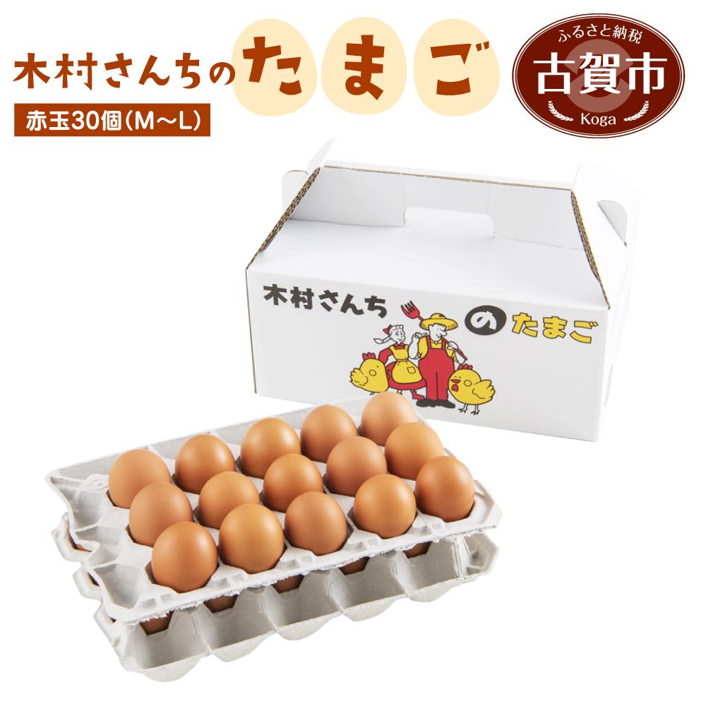 【ふるさと納税】木村さんちのたまご 赤玉30個 (M~L) 九州産 卵 玉子 玉子焼き たまごかけごはん 生卵 濃厚卵 鶏卵 送料無料