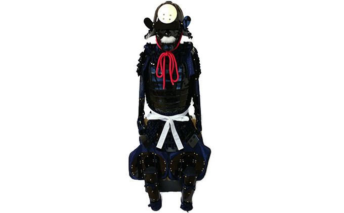 【ふるさと納税】黒色フルセット甲冑キット 武将『和』 【工芸品・装飾品/民芸品・工芸品/人形】