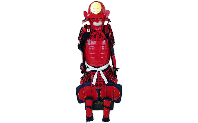 【ふるさと納税】赤色フルセット甲冑キット 武将『和』 【工芸品・装飾品/民芸品・工芸品/人形】