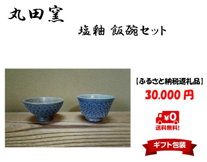 【ふるさと納税】丸田窯 塩釉 飯碗セット