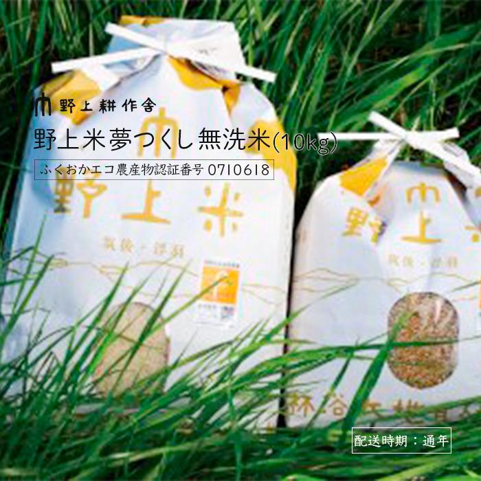 【ふるさと納税】野上耕作舎 野上米夢つくし無洗米10kg