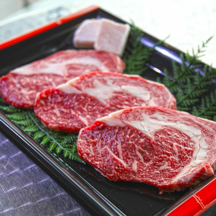 【ふるさと納税】嘉穂牛 リブロース ステーキ 約500g 牛肉 福岡県産 九州産 国産 冷蔵 送料無料