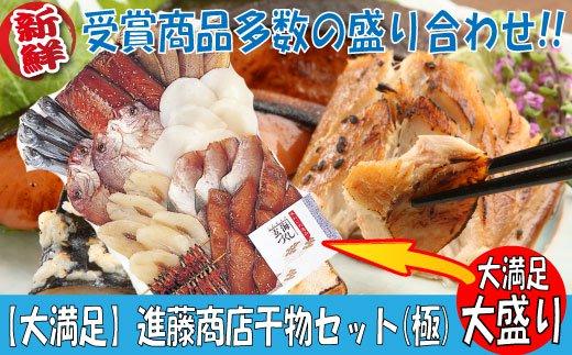 【ふるさと納税】BI01.【大満足】進藤商店干物セット(極)