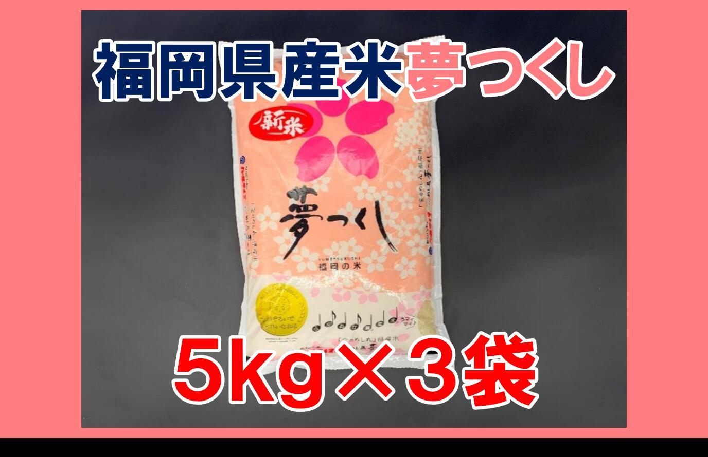 【ふるさと納税】BE016.《福岡県産米》夢つくし15kg(5kg×3)