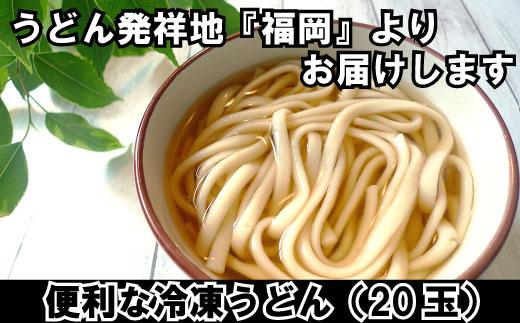 【ふるさと納税】A559.福岡より便利な冷凍うどん18玉+2玉おまけ(計20玉)