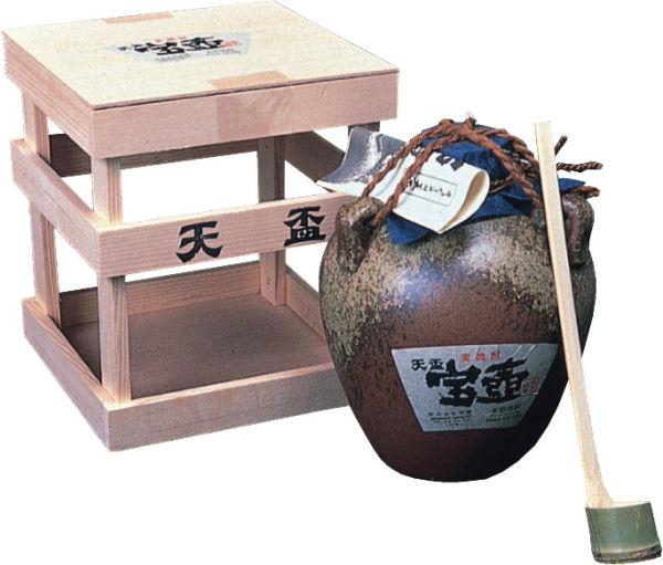 【ふるさと納税】天盃むぎ焼酎 宝壺1800ml