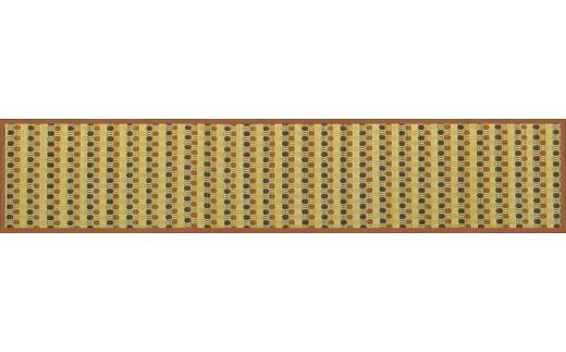 【ふるさと納税】お手入れフリーキッチンマット裏貼り(60×240)(色:ブラウン)AD-0102