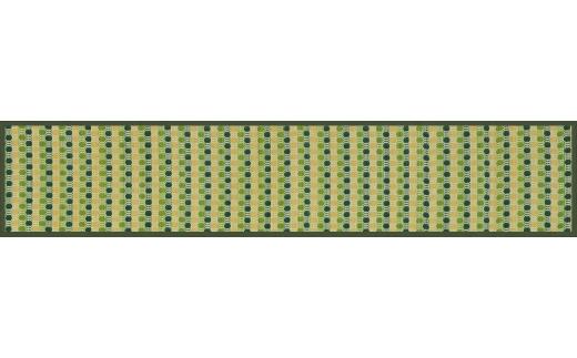 ふるさと納税 お手入れフリーキッチンマット裏貼り 43×240 02-AD-0159r グリーン 国内送料無料 直輸入品激安