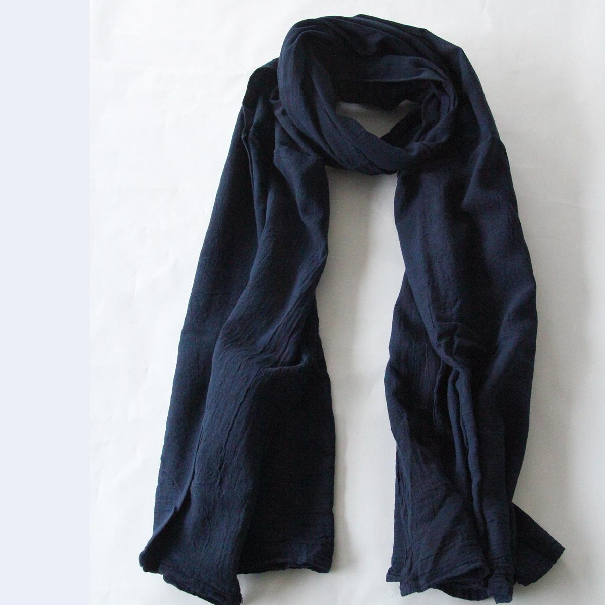 【ふるさと納税】手染めガーゼショール フルサイズ NAVY(藍染) 02-AV-1903r