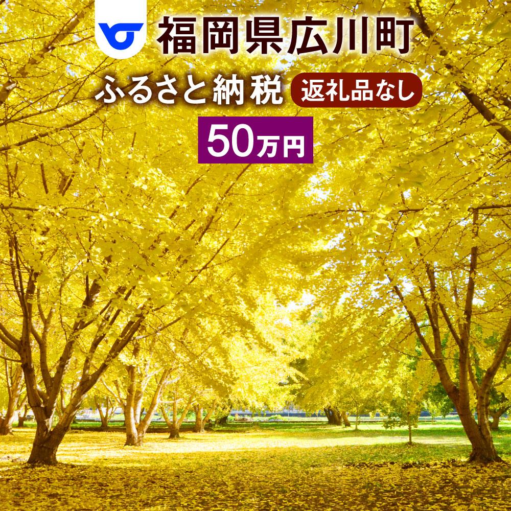 【ふるさと納税】福岡県広川町への寄付(返礼品はありません)1口 50万円