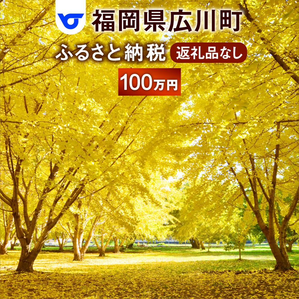 【ふるさと納税】福岡県広川町への寄付(返礼品はありません)1口 100万円