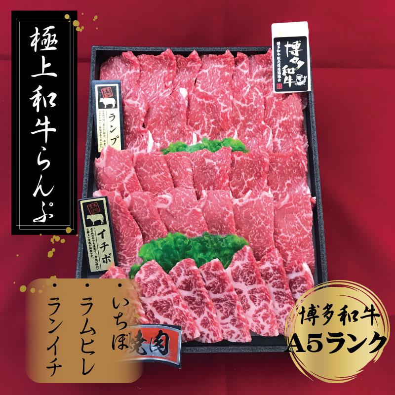 【ふるさと納税】極上博多和牛らんぷ焼肉(A-5等級)冷凍 500g (いちぼ、ラムヒレ、ランイチ)