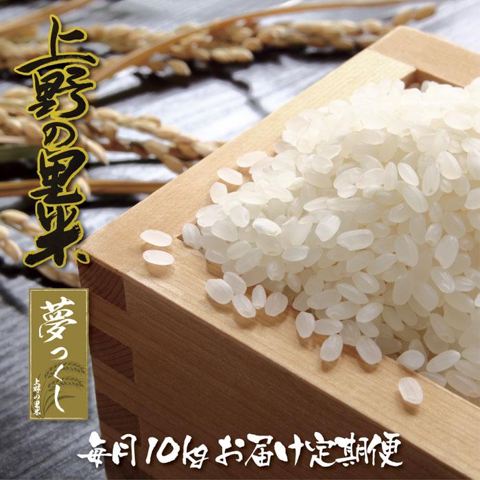 【ふるさと納税】上野の里米(夢つくし)毎月10kgお届け定期便