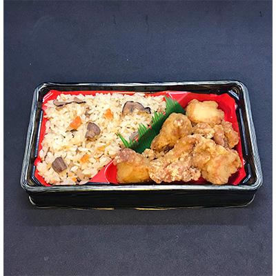 【ふるさと納税】KH3701 【からあげ聖林本店】中津からあげ弁当(6個)&侍めしの素(1個)