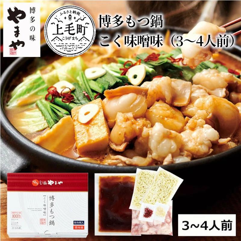 【ふるさと納税】TY1001 やまや 博多もつ鍋 こく味噌味(3~4人前)
