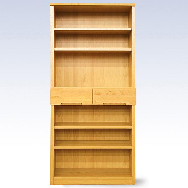 【ふるさと納税】J-039.80書棚NA 無垢材を使用した書棚【諸富家具】
