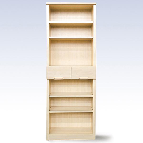 【ふるさと納税】H-052.60書棚WH 無垢材を使用した書棚【諸富家具】