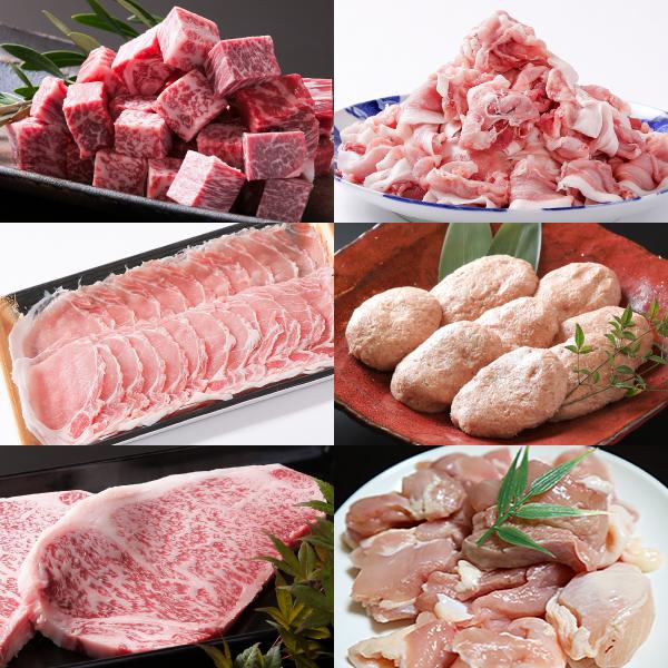 【ふるさと納税】N-047.【全6回定期便】佐賀県産牛豚鶏肉三昧6kgコース