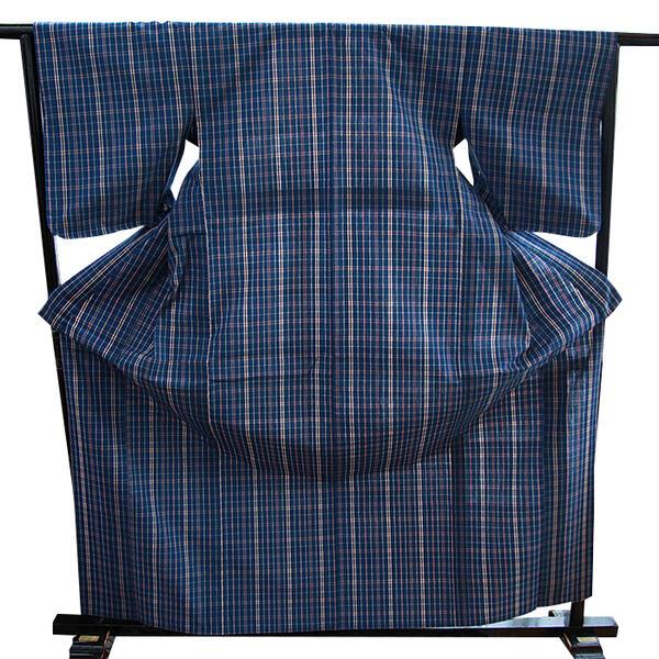 【ふるさと納税】W-008.藍染、草木染の木綿着物