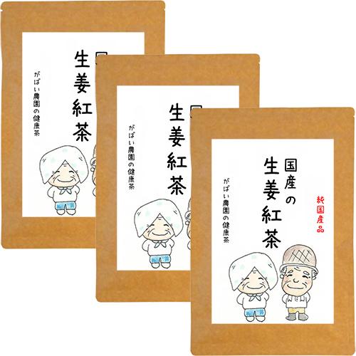 【ふるさと納税】D-156.国産 生姜紅茶(3個セット)