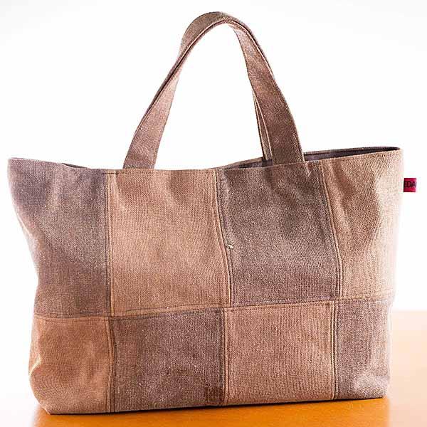 【ふるさと納税】J-035.パッチワークトートバッグ(大)