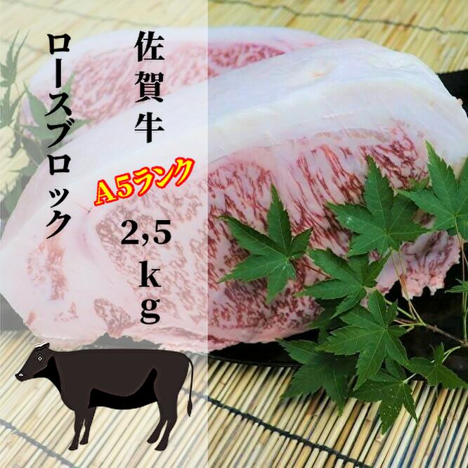 佐賀牛のA5ランクロース肉をたらふく召し上がれ ふるさと納税 アイテム勢ぞろい f-28 佐賀牛特選がばいうまか 市場 5kg 2 A5ランクロースブロック