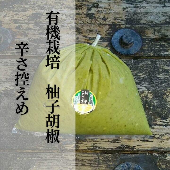 有機栽培の柚子胡椒は銀座の有名店でも人気です 保証 ふるさと納税 b-180 低価格化 銀座有名店使用の有機栽培柚子胡椒 1kg ゆずこしょう 青 辛さ控えめ