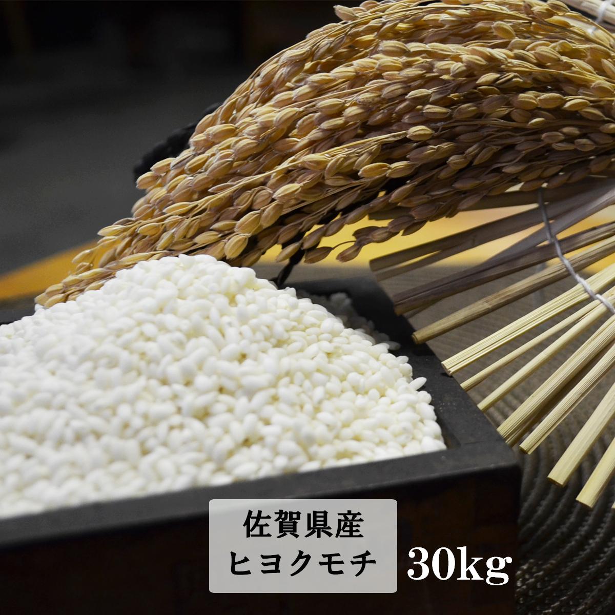 【ふるさと納税】E-32 鹿島市産もち米(ヒヨクモチ) 白米30kg