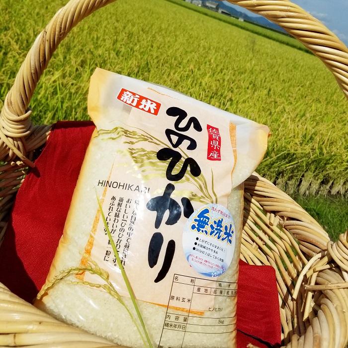 【ふるさと納税】B-175 【令和元年産米】【無洗米】 ひのひかり 10kg(5kg×2袋) 鹿島市産