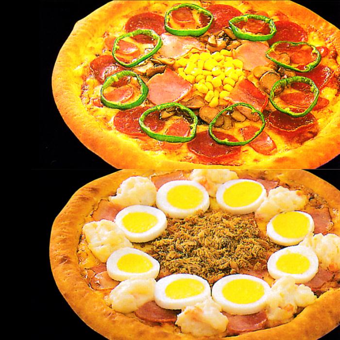 【ふるさと納税】B-129 ピザ屋さんの本格冷凍生ピザ2枚セット(『ベーシックS』&『ベーコンポテトS』)