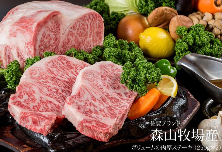 【ふるさと納税】森山牧場産 黒毛和牛ステーキ (250g×2)