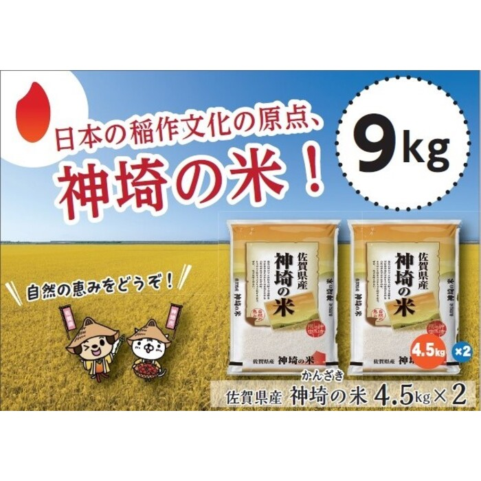 【ふるさと納税】令和元年産 神埼の米「ヒノヒカリ」9kg (H015111)
