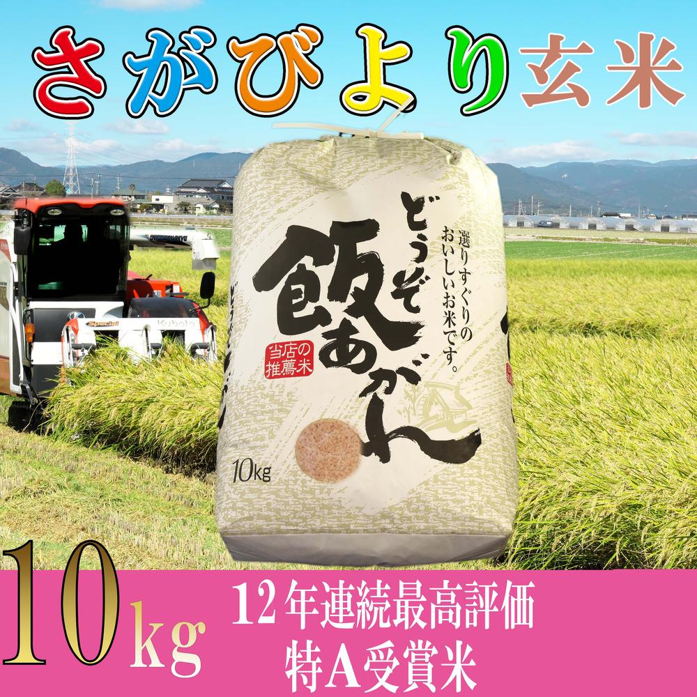 さがびより玄米10kg 驚きの値段 11年連続特A評価受賞米 ふるさと納税 令和2年産 H061120 ギフ_包装