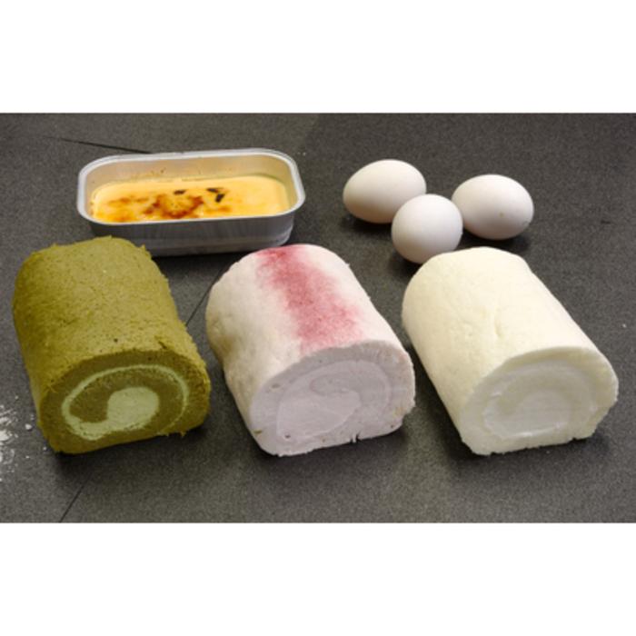 【ふるさと納税】『米粉ロールケーキ3種+クレマカタラーナ』米粉スイーツセット (H053104)