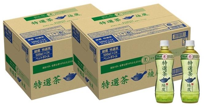 【ふるさと納税】A9-006 綾鷹 特選茶 PET 500ml 24本(2ケース)
