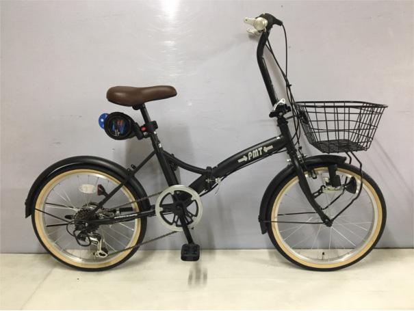 【ふるさと納税】JH-003 PMT206パームブレーキ仕様折りたたみ自転車(色 マットブラック)【数量限定18台】