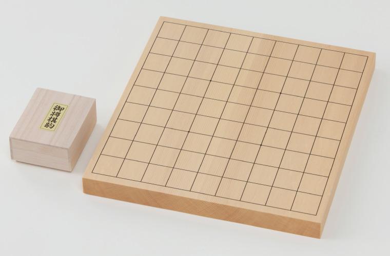 【ふるさと納税】折りたたみ将棋盤(6号)木製駒付きセット